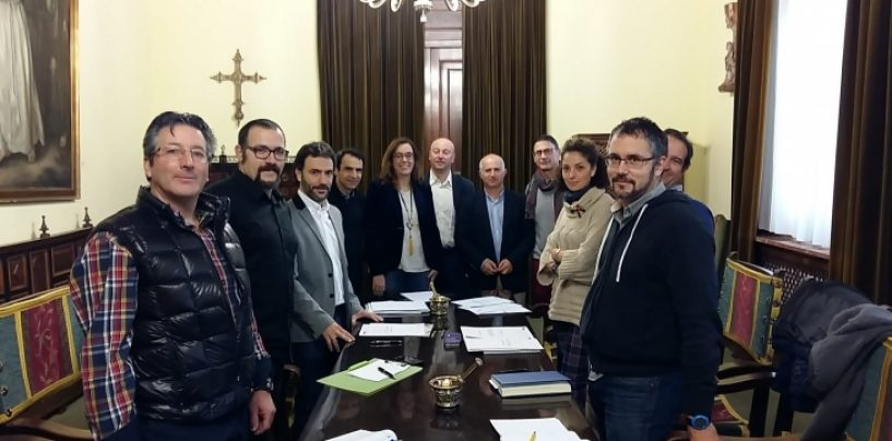Juan Jesús Blanco, Manuel Maza y Nuria Simón, cabezas de lista del Partido Popular para Guardo, Santibáñez de la Peña y Villarramiel.