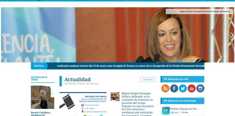 El PP de Palencia presenta su nueva página web